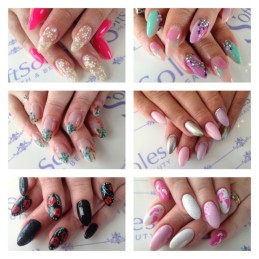 nail display from soft soles